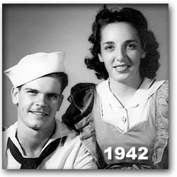 Joe and Blanche Morgan 1942 Pearl Harbor Sweethearts